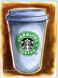 Starbucks Coffee   ... Original Acryl auf Malpapier: Starbucks COFFEE Art kaufen bei Hood.de