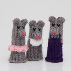 Mouse Family Finger Puppet Set