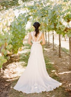 Photography: Rebecca Yale Portraits - www.rebeccayaleportraits.com  Read More: http://www.stylemepretty.com/2014/12/12/romantic-santa-ynez-wedding-at-gainey-vineyard/