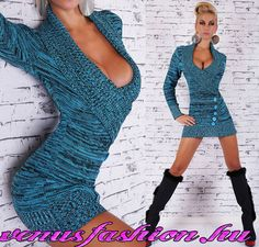 48e48df68b Divatos szexi kötött kék fekete női pulóver gomb díszítéssel - Venus  fashion női ruha webáruház Gazda