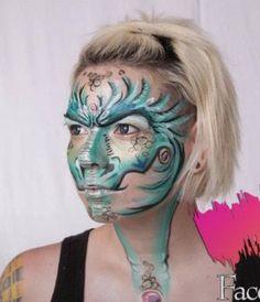Artsy dragon - face paint