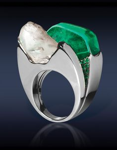 Diamond & Emerald Ring - Love the idea, but not exactly as executed.
