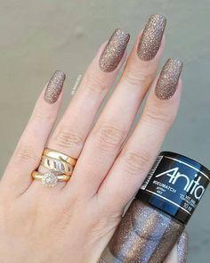 Nails Gel Polish Rings 53 Ideas For 2019 Gel Polish Colors, Gel Nail Polish, Nail Colors, Love Nails, Fun Nails, Glitter Toes, Nails Short, Super Nails, Creative Nails