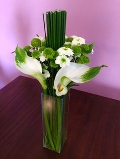#flores #arranjofloral #callas #verdeebranco #flowerarrangement #white&green
