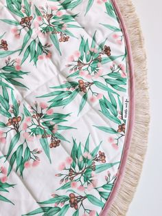 handmade to order with original Thistle and Fox fabric. Round baby play mat with vintage cotton trim Fox Fabric, Cozy Corner, Quilt Stitching, Coordinating Colors, Baby Play, Stitch Design, Vintage Cotton, Surface Pattern Design, Natural Linen