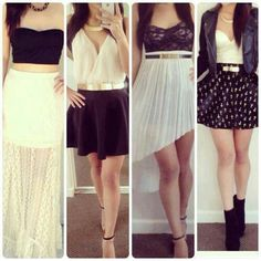 Girly Outfits for Teens 2013 Cute Skirt Outfits, Really Cute Outfits, Cute Skirts, Girly Outfits, Dance Outfits, Outfits For Teens, Cute Dresses, Dress Outfits, Fabulous Dresses