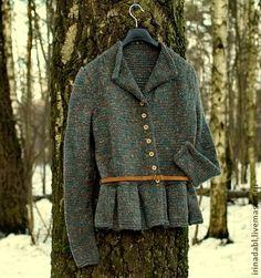 Пиджаки, жакеты ручной работы. Ярмарка Мастеров - ручная работа Жакет Твидди Грей. Handmade.