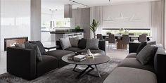 Projekt domu HomeKoncept-26 165,36 m2 - koszt budowy - EXTRADOM Sofa, Couch, Outdoor Furniture Sets, Outdoor Decor, Bungalow, House Plans, Villa, Interior Design, Bedroom