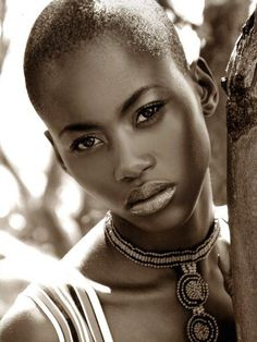 Kaone from Botswana. That skin! Glowing!