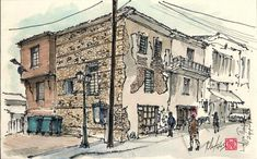 Scketch by Christos Mirtsios from a Macedonian village .Northern Greece.