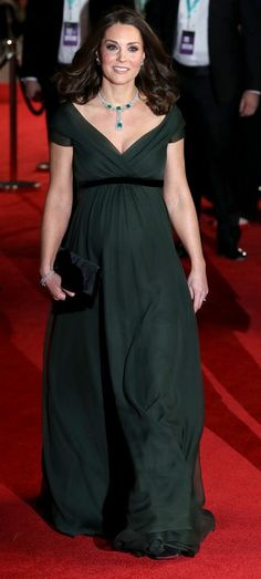 Catherine, The Duchess of Cambridge in Jenny Packham attends the EE British Academy Film Awards in London. #bestdressed