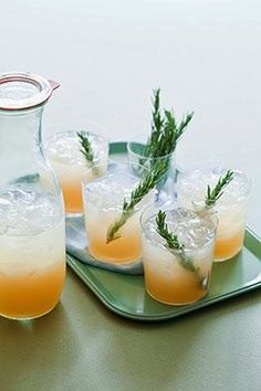 Thanksgiving Cocktail: Rosemary Refresher | Glass of Rosé Thanksgiving Cocktails, Holiday Cocktails, Summer Cocktails, Cocktail Drinks, Cocktail Recipes, Cocktail Tequila, Tequila Drinks, Cocktail Ideas, Fancy Drinks