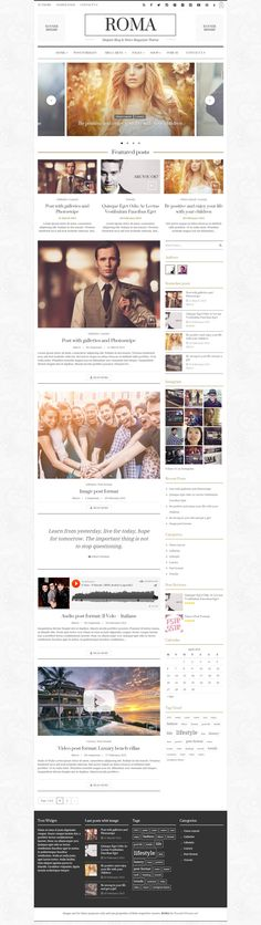 ROMA is an Elegant Blog & News Magazine #WordPress Theme Concept for any kind of creative or business use. Built upon the responsive Twitter #Bootstrap framework, the theme is highly optimized for both mobile and desktop platforms. #website download now➯ http://www.downloadnewthemes.com/2015/04/fresh-and-elegant-blog-news-magazine.html
