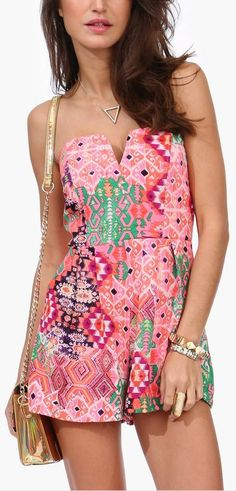 Who wouldn't want a pink party romper?