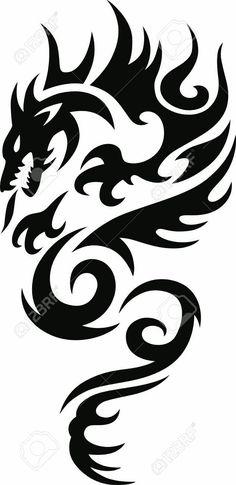 chinese tattoo designs, tattoos for girls, Tribal Dragon Tattoos, Dragon Tattoos For Men, Dragon Tattoo Designs, Tattoos For Guys, Small Tattoos, Compass Tattoo, Arrow Tattoo, Body Art Tattoos, Girl Tattoos