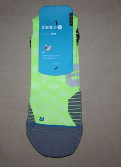 "STANCE FUSION RUN ATHLETIC SOCKS MENS XL FITS SHOES 11.5-13 ""PACE TAB"" LIME #STANCE #Athletic #Socks #Mens"
