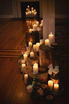 This is a gorgeous way to display multiple candles.