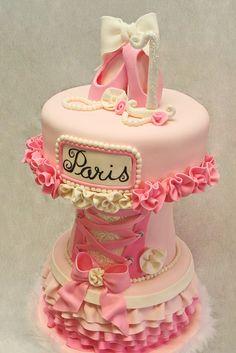 Paris Ballerina Cake