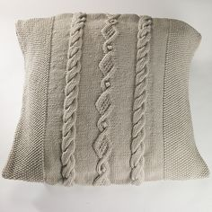 Ravelry: Moss Stitch Diamond and Bobble Cable Cushion Cover pattern by Sian…