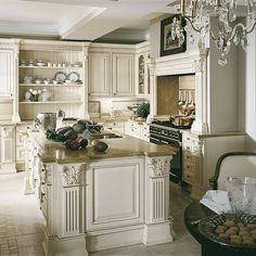 Tuscan design – Mediterranean Home Decor Beautiful Kitchen Designs, Beautiful Kitchens, Luxury Kitchens, Home Kitchens, Tuscan Kitchens, Dream Kitchens, Country Kitchen, New Kitchen, Kitchen Ideas