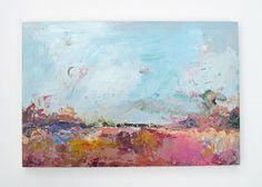 Original Painting.  Abstract Field. by SnoogsAndWilde on Etsy, 275.00