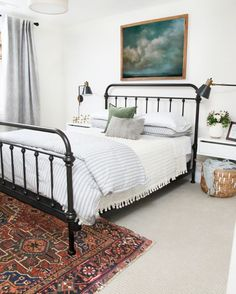 Antique Black Bed | Vintage Art