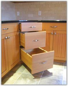 corner base kitchen cabinet options - Kitchen Corner Cabinet Ideas