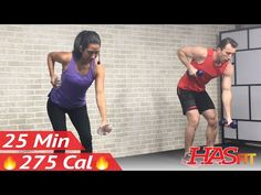 25 Min Beginner Cardio and Strength Training - Home Low Impact Cardio Workout for Beginners - Weight - YouTube