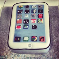 Creative smartphone cake by Sugar & Spice Cakes Blackpool, UK