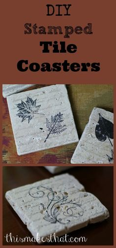 Learn how to make stamped tile coasters. These make great gifts!