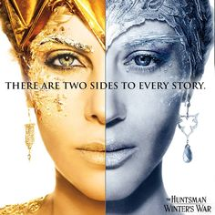 Which side will you pick? The Huntsman Winter's War. Charlize Theron (Evil Queen) in gold or Emily Blunt (Snow Queen) in blue?