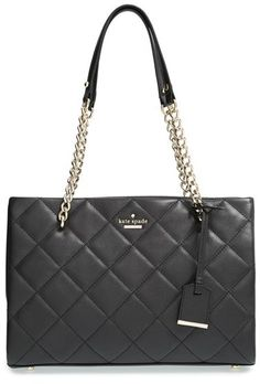 Kate Spade New York 'Emerson Place - Small Phoebe' Quilted Leather Shoulder Bag - Black