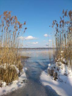 Wintertag am Simssee, near Rosenheim..by Sonja Martinus