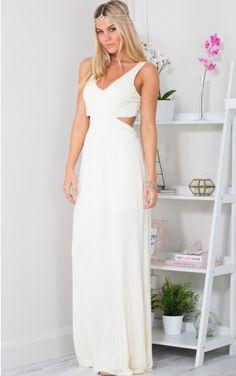 After Dawn maxi dress in Cream