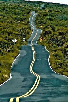 Drunken highway, Santa Fe, New Mexico