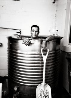 """Sam Calagione at Dogfish breweries. """"I'm frustrated that one beer has been hammered down people's throats,"""" he says."""