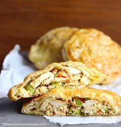 Pasteles de Pollo con Verduras (Chicken and Vegetables  Pastries) |mycolombianrecipes.com