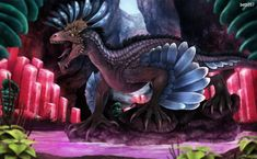 Ark Survival Evolved- Rock Drake by on DeviantArt Cute Fantasy Creatures, Mythical Creatures Art, Prehistoric Creatures, Evolve Wallpapers, Animes Wallpapers, Jurassic Park Raptor, Drake Art, Primitive Survival, Wings Of Fire