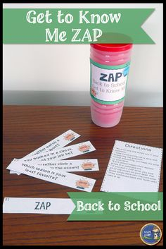 Back to School Get to Know Me ZAP - Engaging back to school game for students to get to know each other in a small group. Click to check it out! $ gr 4-8
