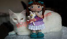 amigurumi kedili kız bebek yapılışı