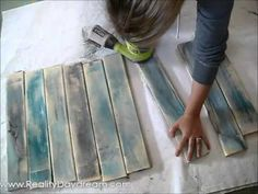 Make new wood look like old distressed barn boards {Reality Daydream} - YouTube