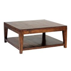 A low, square coffee table is the perfect surface for accessorizing in a seating area. | $675