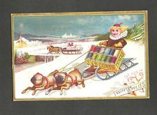 Trade Card J & P Coats Best Thread Pug Dogs Pulling Sled *227