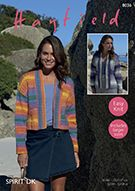 Create a stunning garment with this Hayfield Spirit DK Cardigan Pattern. Perfect for brightening up your wardrobe. Hayfields Spirit DK gives you the boldly defined stripes. The wool blends means you can enjoy your knits in warmer weather. Ladies Cardigan Knitting Patterns, Cardigan Pattern, Cardigans For Women, Jackets For Women, Ladies Jackets, Aw 2017, Dk Weight Yarn, King Cole, Baby Food Recipes