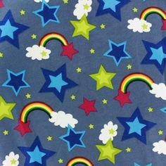 Tissu sweat envers Rainbow  anthracite x 10cm