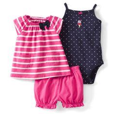 2014New Chegada, do Original Carter bebés bonito 3 peças Diaper Cover Set, Bebés Meninas roupas de verão, Freeshipping 19.00