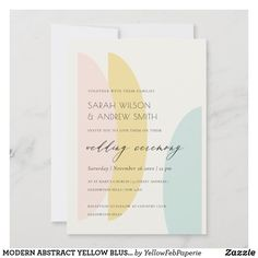 Aqua Wedding, Custom Thank You Cards, Personal Photo, Wedding Invitations, Reception, Blush, Paper Products, Abstract, Yellow