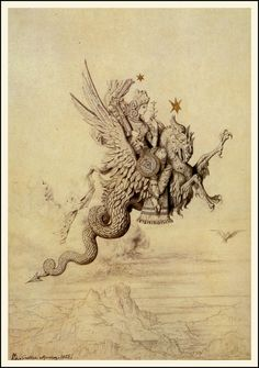 A Peri by Gustave Moreau