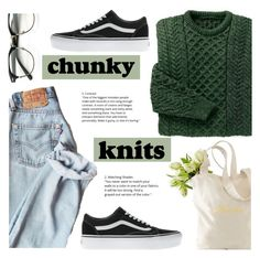 """Get Cozy: Chunky Knits"" by sandralalala ❤ liked on Polyvore featuring Vans and Mark & Graham"