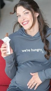 """""""We're Hungry"""" Maternity Hoodie by 2 Chix"""
